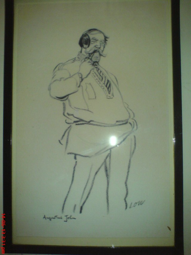 """Drawing of Augustus John at Tredegar House.  There was one painting there which suggested """"Augustus John"""" to me (though I'm not knowledgeable on such). It wasn't by him but another was, and apparently he and the subject are supposed to have had an affair.  I wouldn't have expected any less!"""