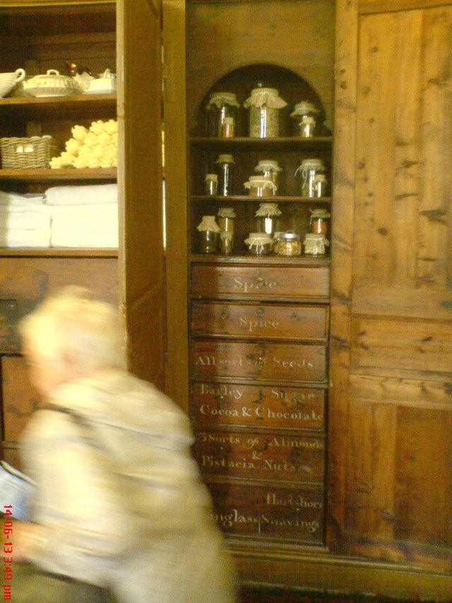 In the kitchen at Tredegar House