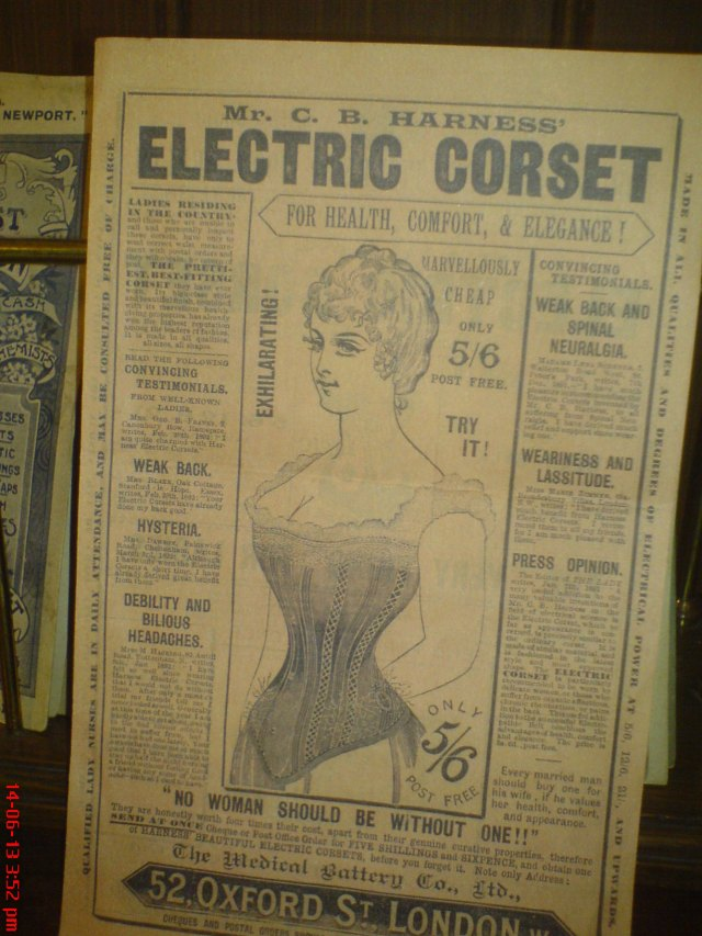 Oh Mr. Harness - yes, what a Good Idea for Health, Comfort and Elegance!  Indeed, as time has borne out, eventually, no woman was without one.
