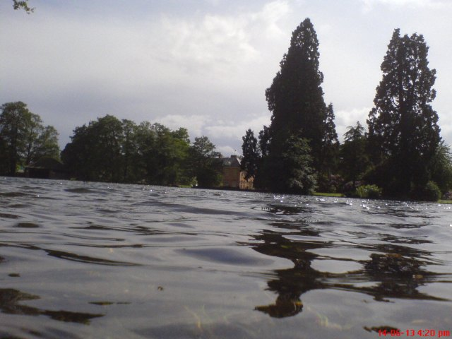 Tredegar House from the fish pond.