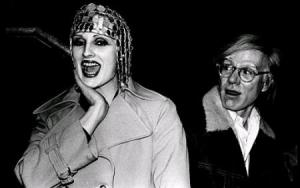 "Candy Darling and her artist. ""Candy came from out on the island In the backroom she was everybody's darlin' But she never lost her head Even when she was giving head..."" Click for source."