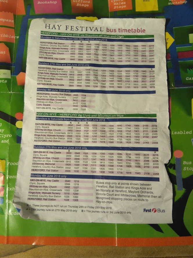 Hay bus timetable. Click to enlarge.