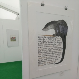 Jackie Morris' names of the otter. Hay 2018.