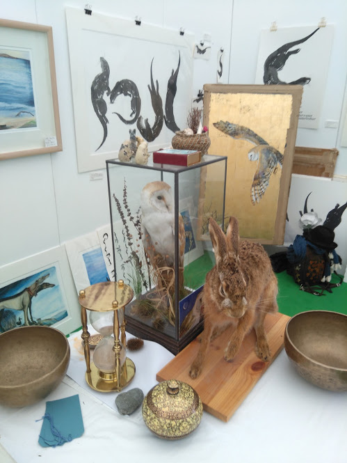 Some of Jackie Morris' stuff at Hay 2018.